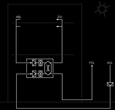 schema di funzionamento di una Casa Passiva