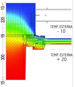 termografia di una finestra
