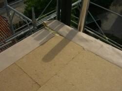telo freno al vapore risvoltato sulla fibra di legno