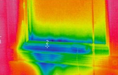 davanzale ponte termico termografia