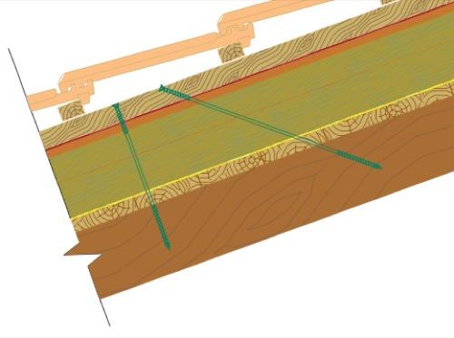 tetto in legno listelli vite di fissaggio-01