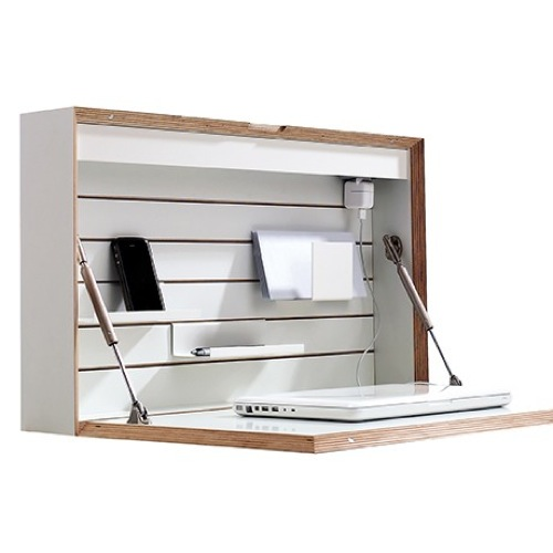FLATBOX wall-mounting secretary desk design Michael Hilger-04