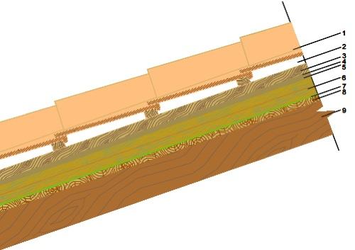 sfasamento - Il tetto in legno di Antonio in Sardegna 48
