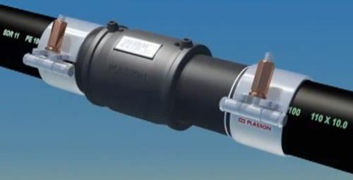 Saldatura per elettrofusione di una tubazione in PE-01