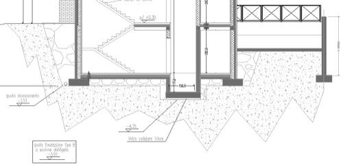 2013: stratigrafie isolamento sul lato interno piano interrato e solaio verso terra, attenuazione ponti termici valutazione termointonaco esterno, finiture interne, sigillatura e posizione nuovi serramenti, stratigrafie tetto PARMA Gradi Giorno 2502 Zona E