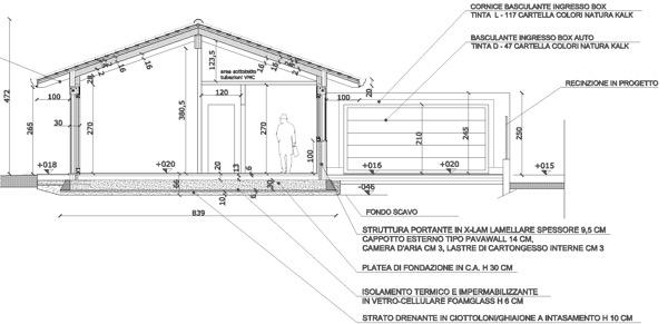 2015: stratigrafie verticali e di copertura casa in legni in xlam finiture interne stratigrafie solai materiali per il trattamento del legno a vista  Castano Primo MILANO  Gradi Giorno 2634  Zona Climatica E