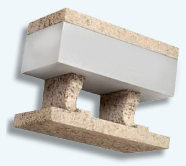caldo - Laterizio porizzato con eps e grafite oppure blocchi cassero in legno cemento con eps 44