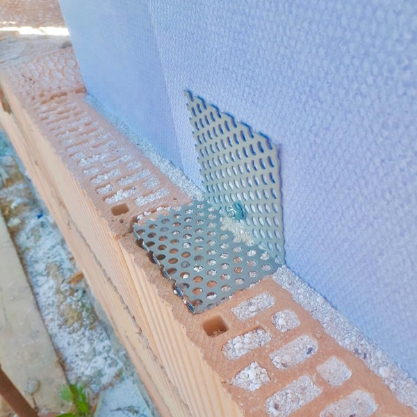 costruire in laterizio - Attenuazione del ponte termico del pilastro e gli ancoraggi per il laterizio 10