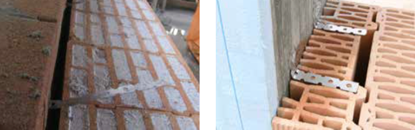 costruire in laterizio - Attenuazione del ponte termico del pilastro e gli ancoraggi per il laterizio 8