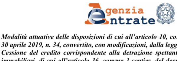 anit - Cessione del credito corrispondente alla detrazione 2