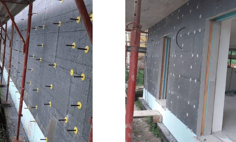isolamento esterno a cappotto - Isolamento della parete in muratura armata per casa passiva 22