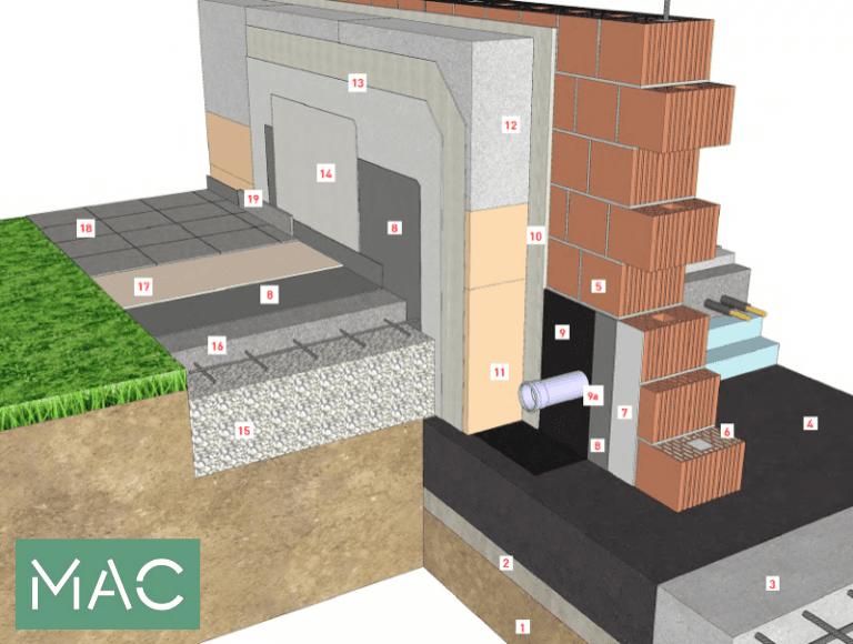 isolamento esterno a cappotto - Isolamento della parete in muratura armata per casa passiva 12