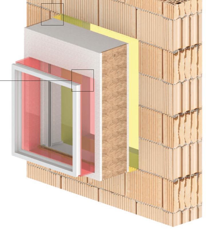 casa passiva - Serramento per casa passiva in monoblocco su misura 8
